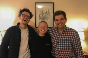 Kate with Matt and Tom